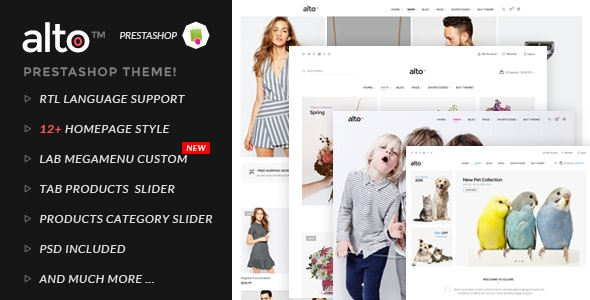 Alto  Responsive Prestashop Theme - Fashion PrestaShop