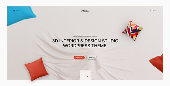 Interni - 3D Interior & Design Studio WordPress Theme - Business Corporate