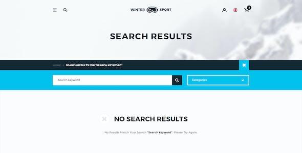 Winter Sport - Ski & Snowboard Rental PSD Template