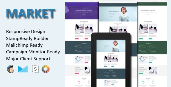 MARKET - Responsive Email Template - Email Templates Marketing