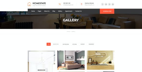 HOMESTATE - Single Property Real Estate PSD Template