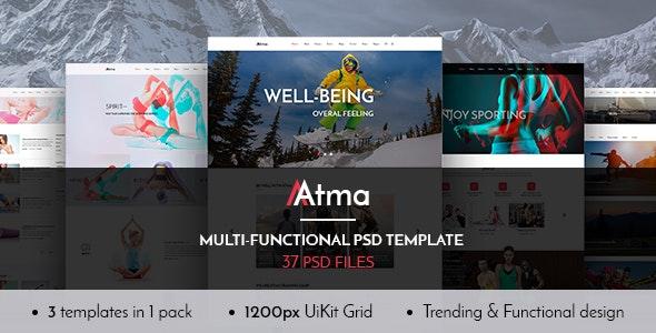 Atma — Multipurpose Wellness | Sport | Yoga PSD Template - Health & Beauty Retail
