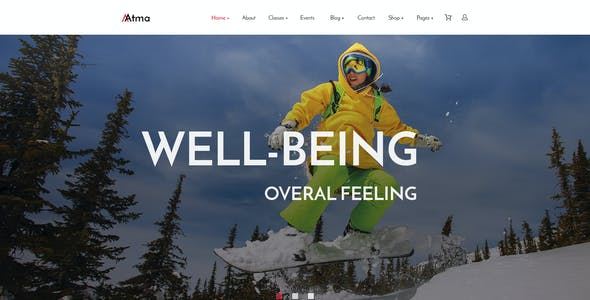 Atma — Multipurpose Wellness   Sport   Yoga PSD Template