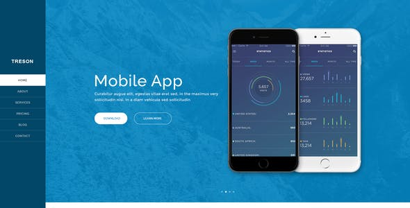 Treson - One Page Agency, App, Startup Responsive HTML Template