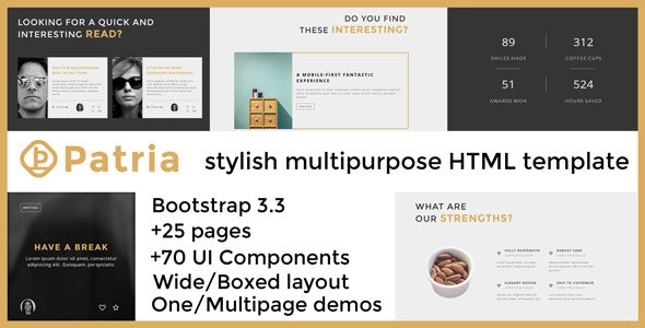 Patria - Stylish Multipurpose HTML Template - Business Corporate