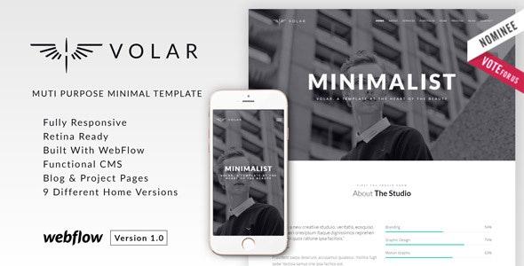 Volar | Minimal Multipurpose Webflow Theme - Webflow CMS Themes