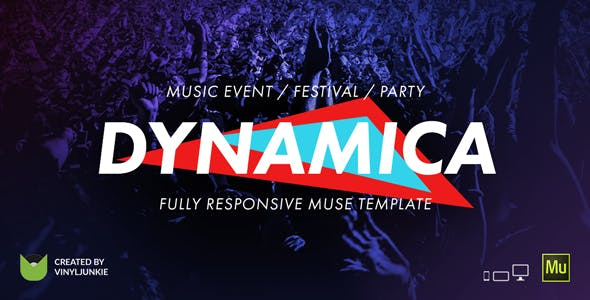 Download Dynamica - Music Event / Festival / Party Responsive Muse Template