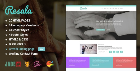 Resala - Charity & Crowdfunding Template - Charity Nonprofit