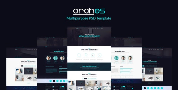 Orches – Multipurpose PSD Template - Corporate Photoshop