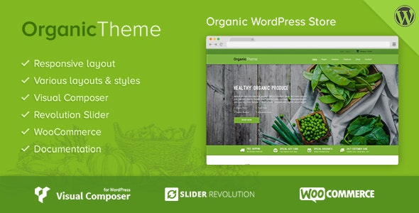 Organic | Farm & Food WordPress Theme - WooCommerce eCommerce