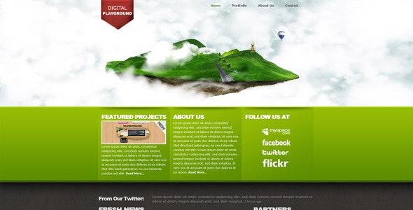 Digital Playground Modern Floating Island Template - Creative Site Templates