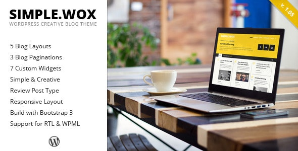 SimpleWox - WordPress Creative Blog Theme - Personal Blog / Magazine