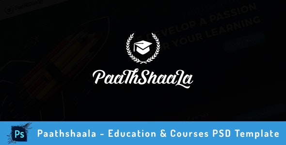 Paathshaala - Education & Courses PSD Template - Business Corporate