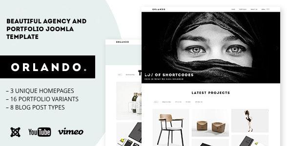 Orlando - Minimalistic Agency, Portfolio & Photography Joomla Template - Portfolio Creative