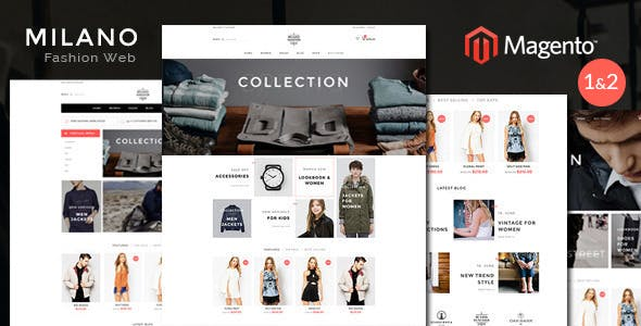 Milano Fashion Responsive Magento Theme | RTL supported