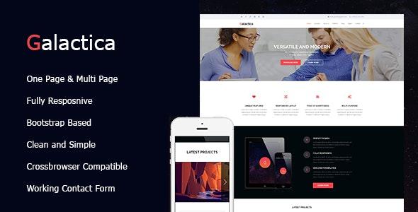 Galactica - Premium HTML Theme - Creative Site Templates