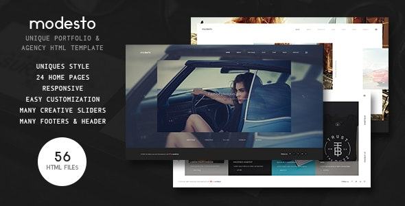 Modesto - Power Unique Portfolio, Photography & Agency HTML Template - Portfolio Creative
