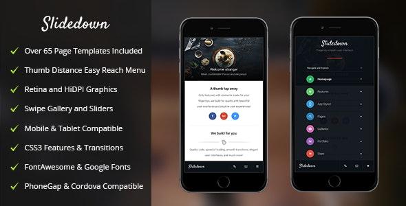 SlideDown Mobile - Mobile Site Templates