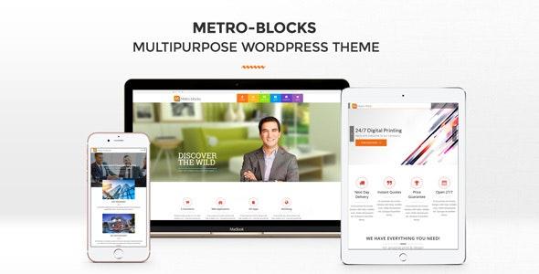 Metro-Blocks - Multi-Business WordPress theme - Corporate WordPress