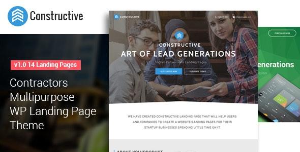 Constructive- Multipurpose WP Landing Page Theme - Marketing Corporate
