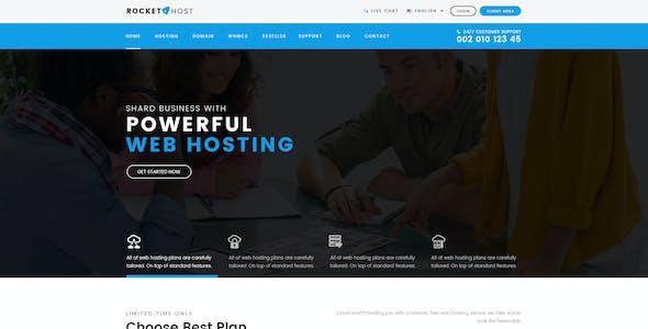 Rocket Host - WHMCS & Hosting PSD Template