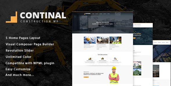 Continal - Construction & Business WordPress Theme - Business Corporate
