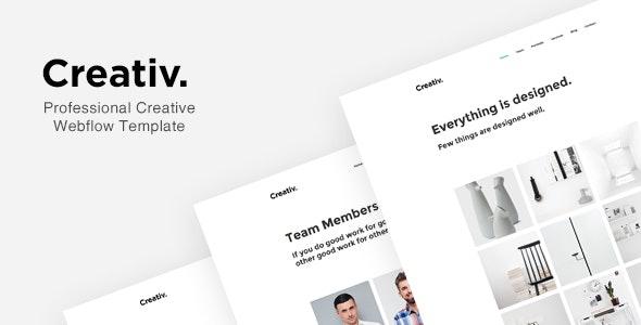 Creativ - Professional Creative Webflow Template - Webflow CMS Themes