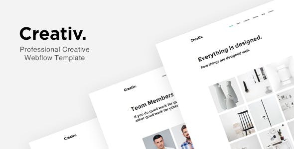 Download Creativ - Professional Creative Webflow Template
