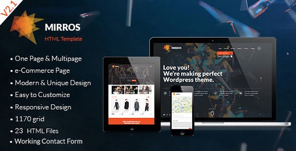 MIRROS - Multipurpose Responsive HTML Template - Creative Site Templates