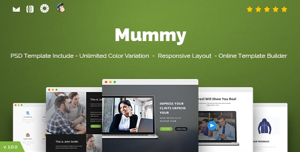 Mummy - Responsive Email + Online Template Builder - Newsletters Email Templates