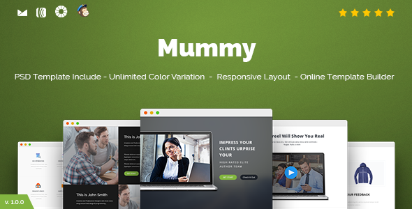 Mummy Responsive Email Online Template Builder By Castellab