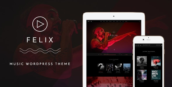 Felix - Responsive Music, Event WordPress Theme - Music and Bands Entertainment
