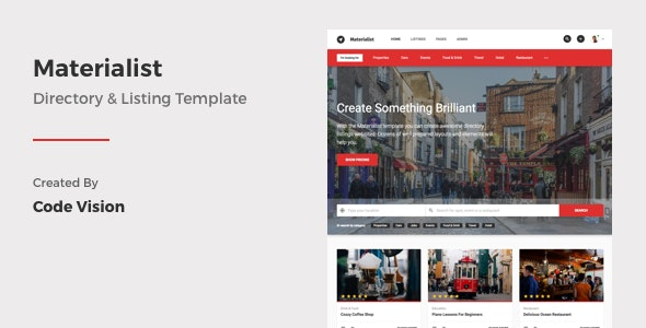 Materialist - Material Directory HTML Template - Business Corporate