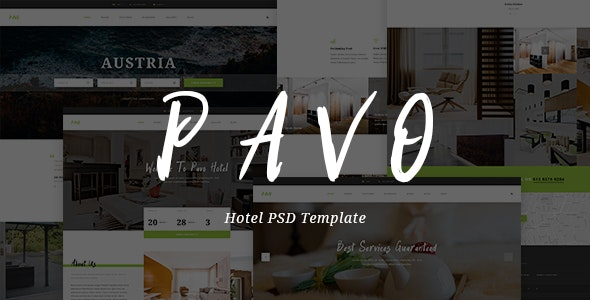 Pavo - Hotel PSD Template - Travel Retail