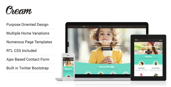 Cream - Desserts and Bakery HTML Template
