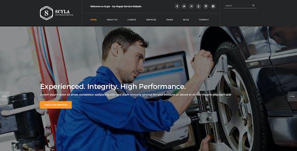 Scyla - Car Repair Service PSD template