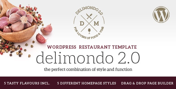Delimondo 2.0 - 5 Styles Restaurant & Food WP Theme - Food Retail