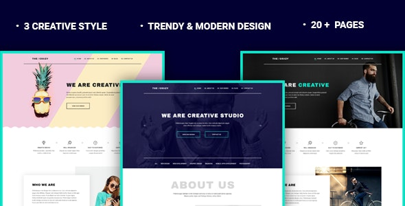 The Crazy - Creative Agency WP Template - Business Corporate