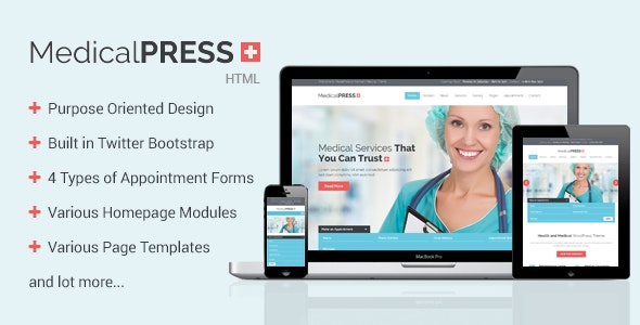 MedicalPress - Health HTML Template - Health & Beauty Retail
