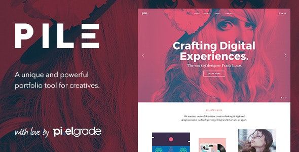 PILE - An Uncoventional WordPress Portfolio Theme - Portfolio Creative