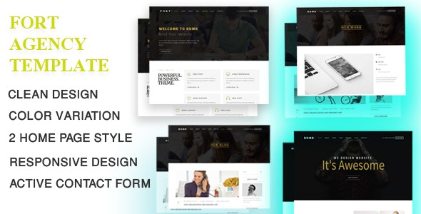 Fort - Corporate Agency Template - Corporate Site Templates