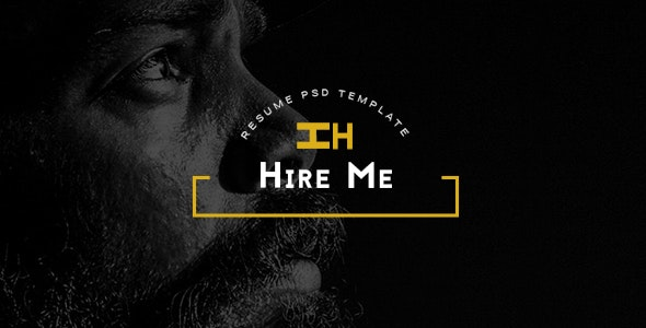 Hire Me - Personal vCard PSD Template by websroad | ThemeForest