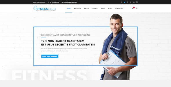 FitnessClub - Professional Gym Services PSD