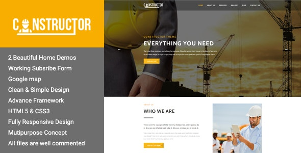 Constructor - Premium Construction HTML Theme - Corporate Site Templates