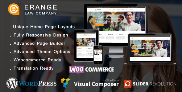 Erange- Law Firm WordPress Theme - Business Corporate