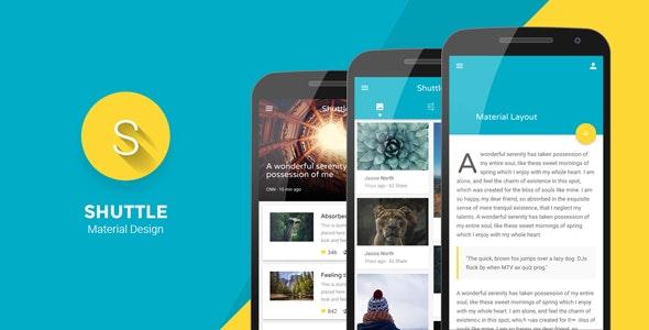 Shuttle - Material Design Mobile Template - Mobile Site Templates