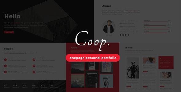 Coop - Onepage Personal Portfolio - Personal Site Templates