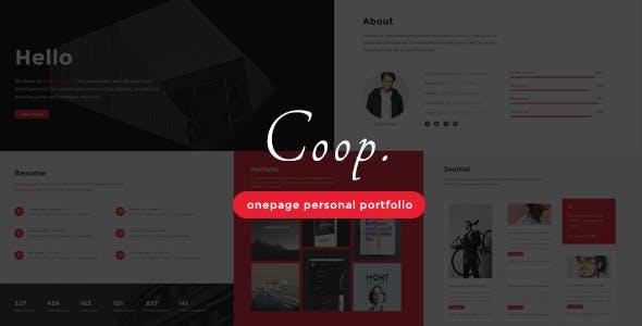 Coop - Onepage Personal Portfolio