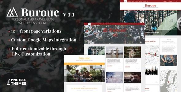 Burouc - Personal and Travel Blog WordPress Theme - Blog / Magazine WordPress