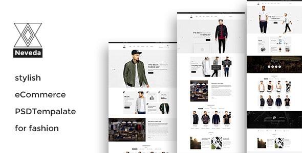 NEVEDA - Stylish PSD Template for Fashion Webshop - Fashion Retail